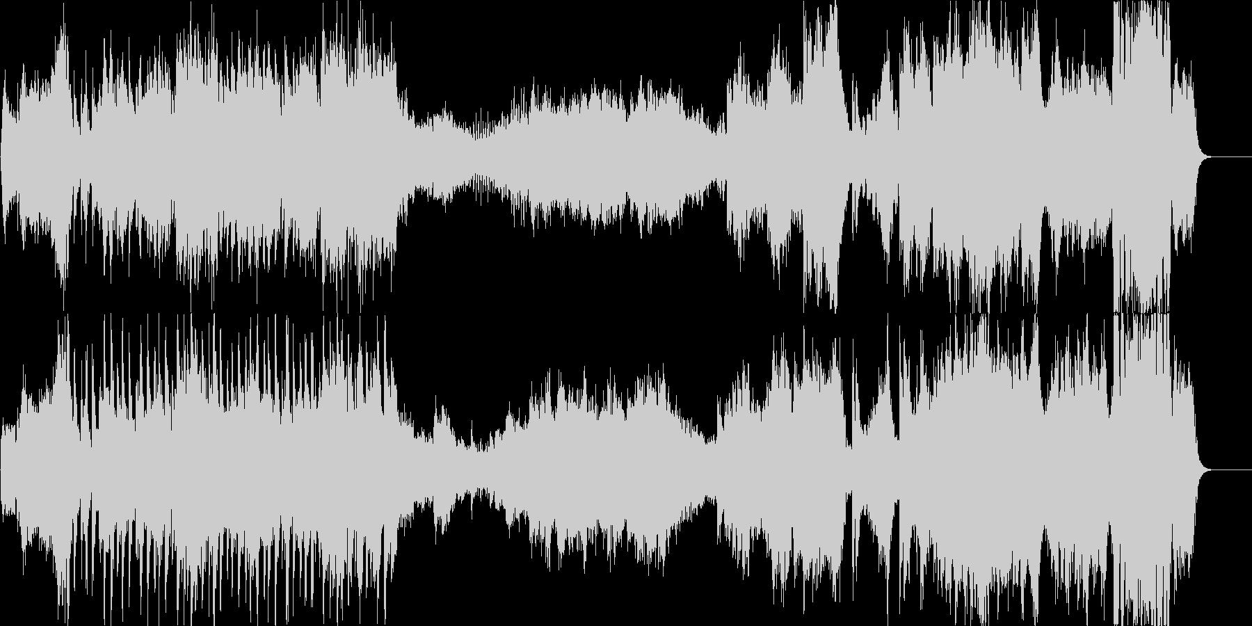 ハリウッド系ファンファーレのオケの未再生の波形
