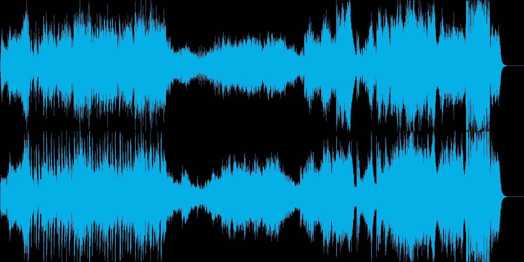 ハリウッド系ファンファーレのオケの再生済みの波形