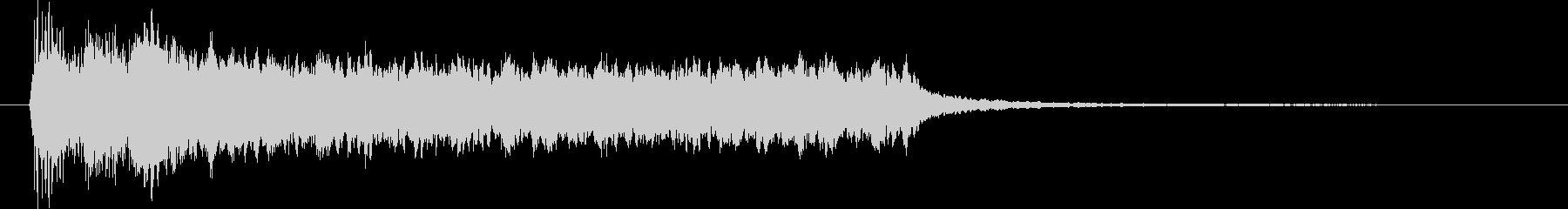 突発的なピアノシンセの未再生の波形