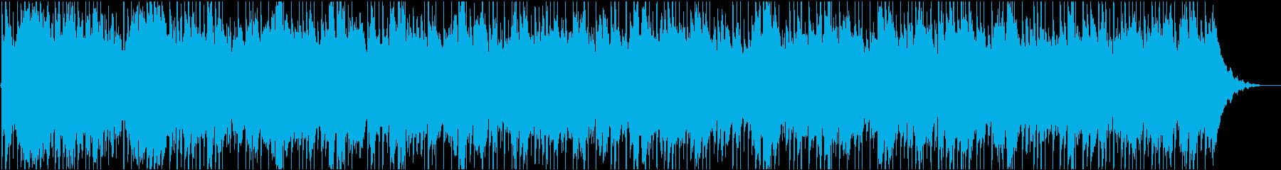 寂しげなクワイアとハープの曲の再生済みの波形