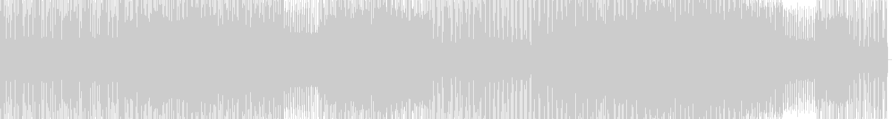 泡のような音が鳴り響くハウスの未再生の波形