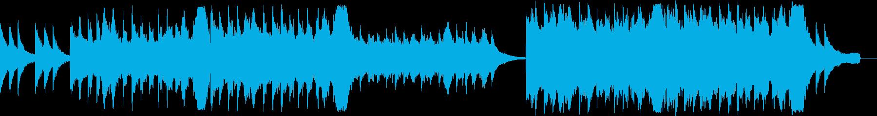 ピアノとストリングスやテクスチャーの再生済みの波形