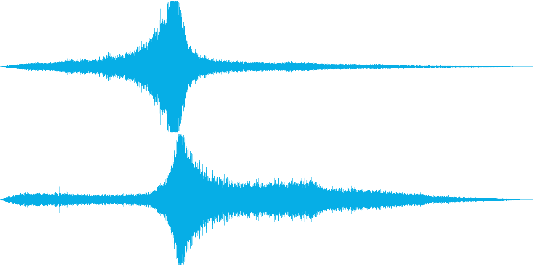 【生録音】住宅地 自転車とバイクの通過音の再生済みの波形