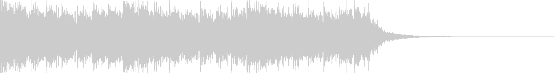 クールなデジタルサウンド、CG映像等。の未再生の波形