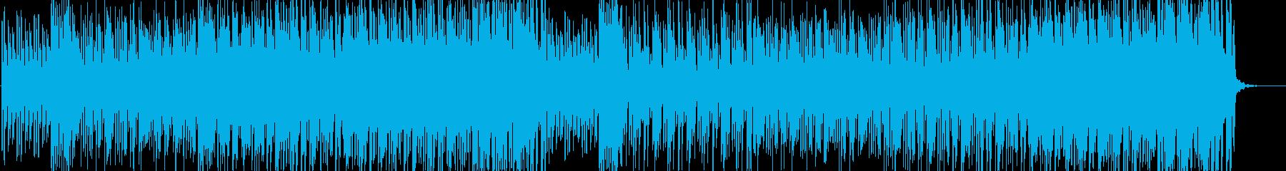 賑やかで忙しないジャズ風ピアノの再生済みの波形