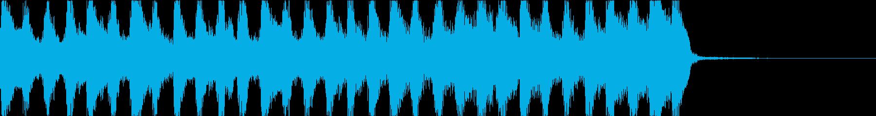 爽やかなストリングスジングルの再生済みの波形