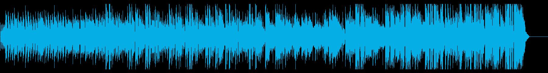 ビートの利いたアイドルポップの再生済みの波形