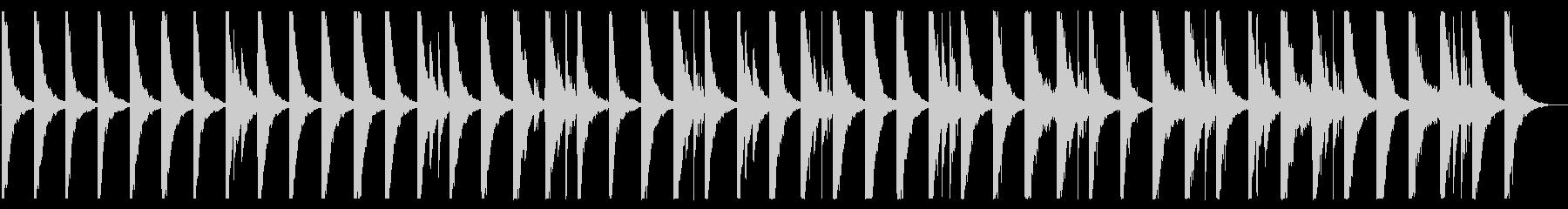駆け足のようなハウス_No410_2の未再生の波形