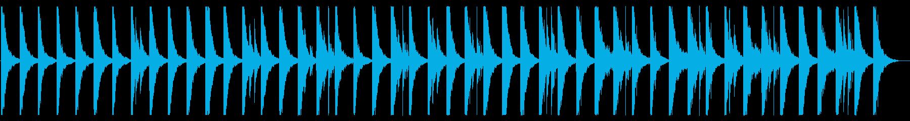 駆け足のようなハウス_No410_2の再生済みの波形