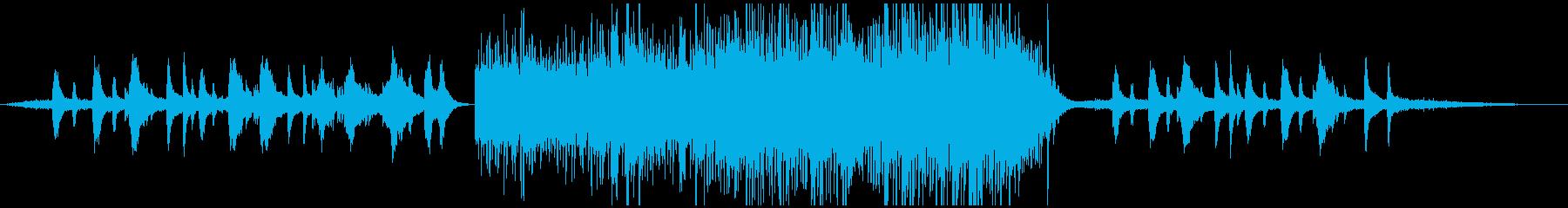 爽やかで透明感溢れるハープと弦(水音有りの再生済みの波形