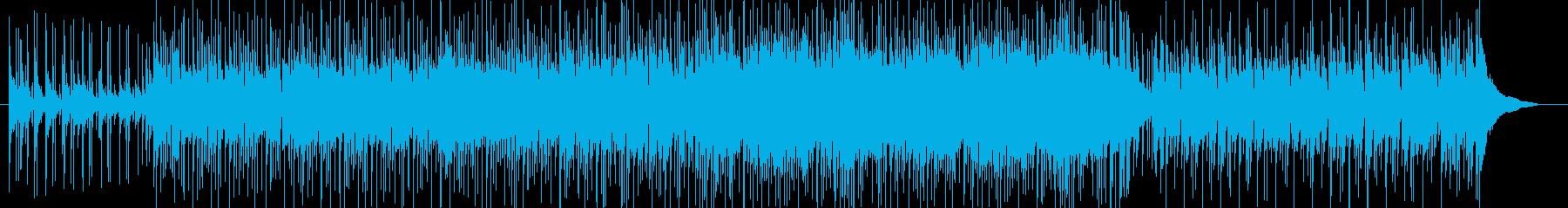 ボサノバっぽいピアノ ギターの再生済みの波形