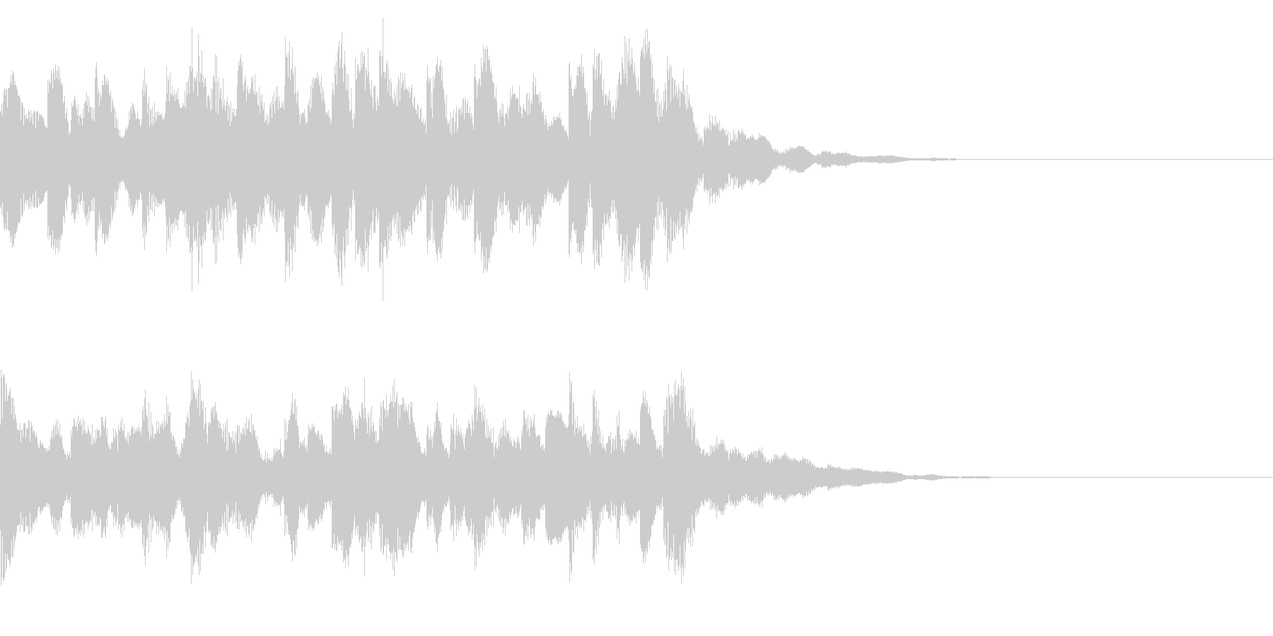 発車メロディー調のチャイムジングルの未再生の波形