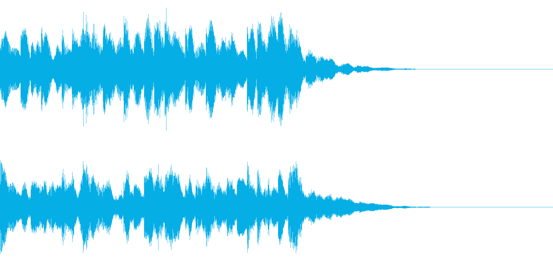 発車メロディー調のチャイムジングルの再生済みの波形