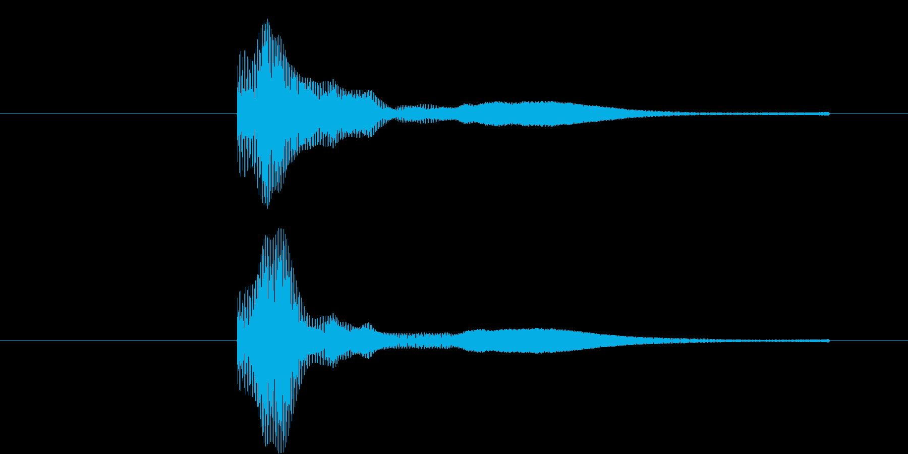 ぽよーん、という軽い音です。の再生済みの波形