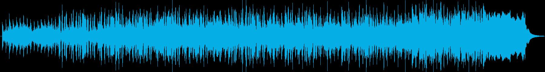 ダイナミックで明るく爽やかなBGMの再生済みの波形
