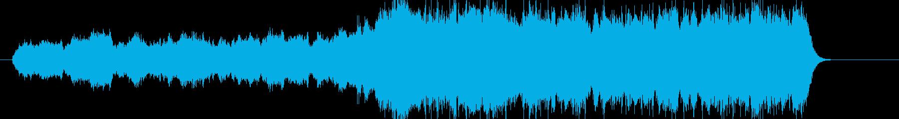 壮大なストリングス曲の再生済みの波形