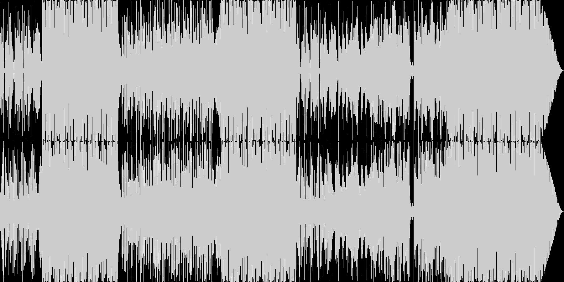 さわやかなEDMの未再生の波形