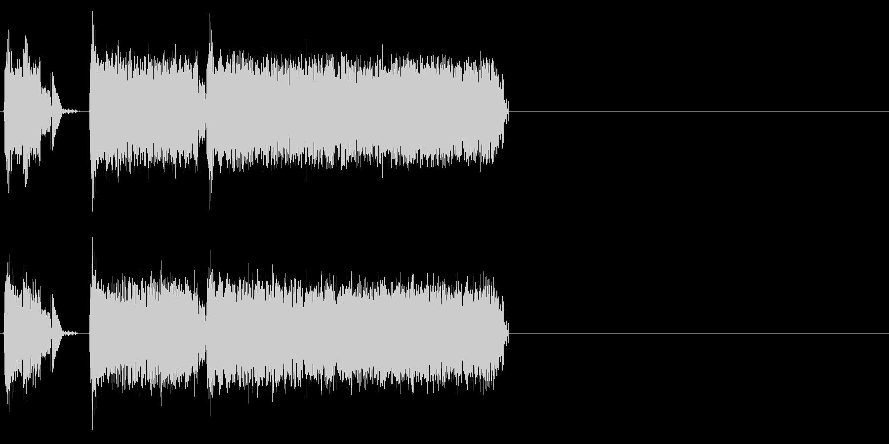 サーボ小、重の未再生の波形
