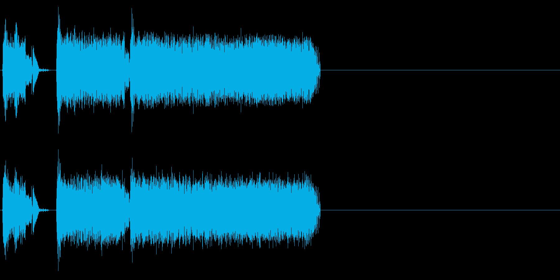サーボ小、重の再生済みの波形
