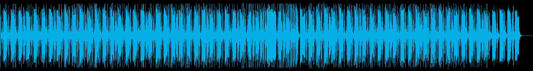 穏やかな日常系のBGMの再生済みの波形