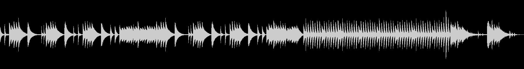 しずかでゆっくりなピアノソロの未再生の波形