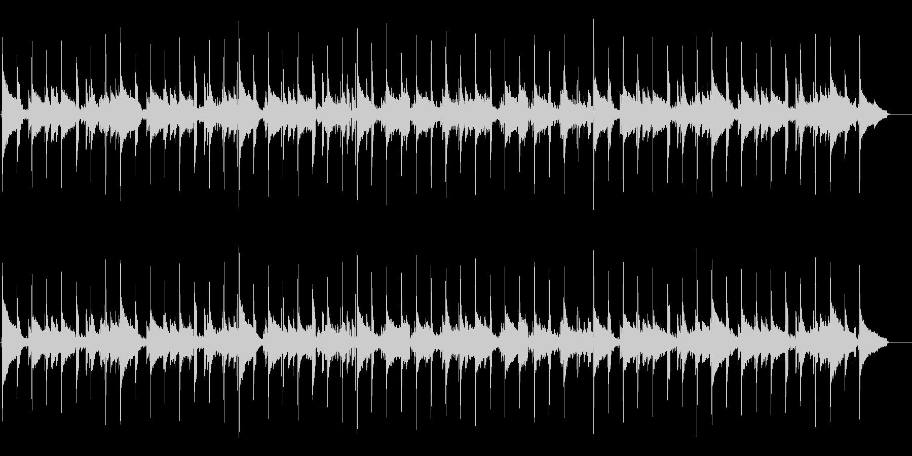 しっとりとして可愛いバンド調BGMの未再生の波形
