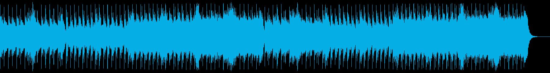 おしゃれな雰囲気の3拍子BGMの再生済みの波形