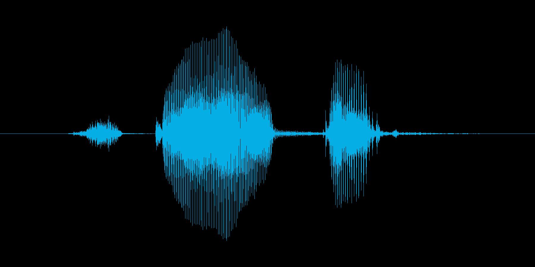 スタート!(掛け声・女性)の再生済みの波形