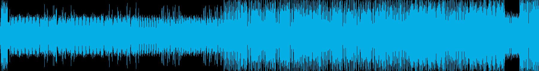 ビキビキといった電子音などの再生済みの波形