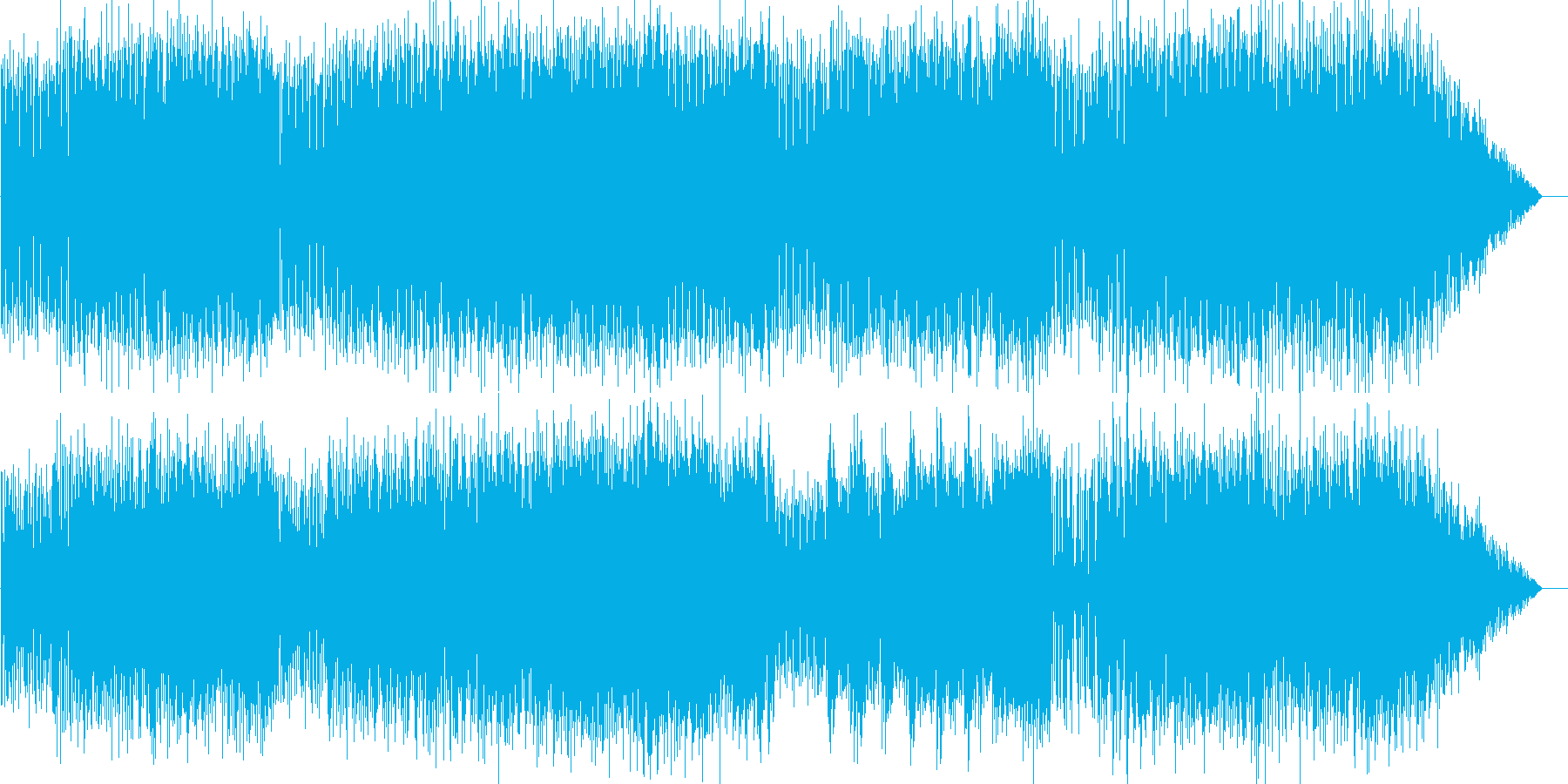 ほのぼの軽やかお散歩ギターインストの再生済みの波形