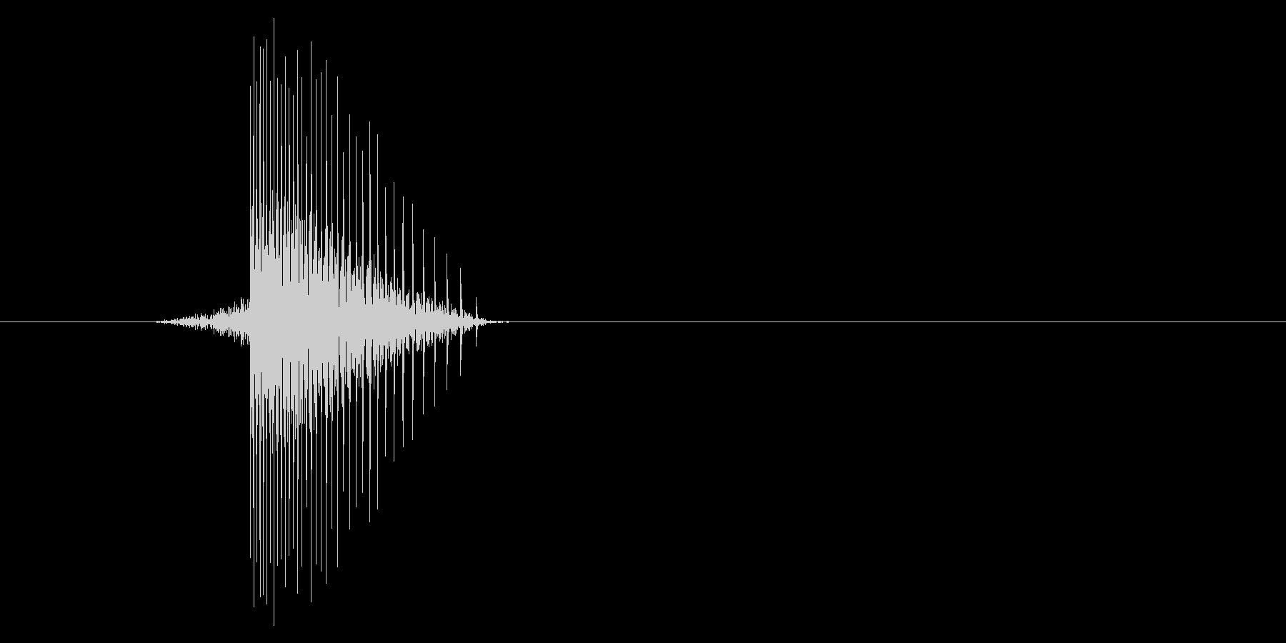 ゲーム(ファミコン風)ヒット音_022の未再生の波形