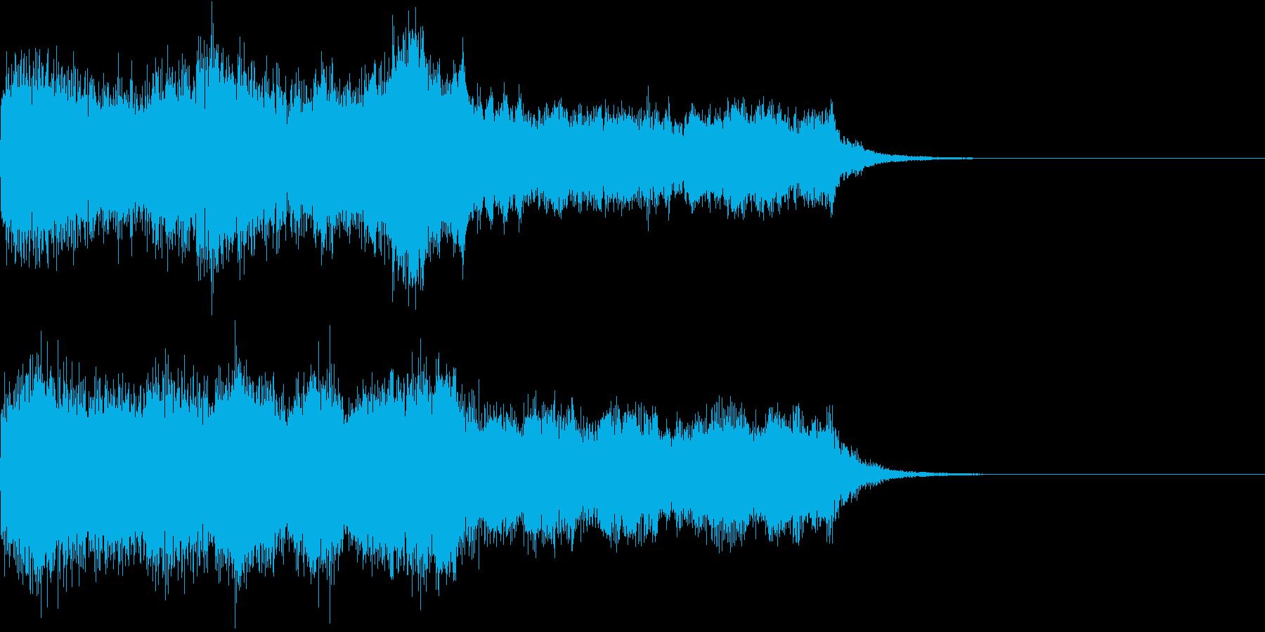 堂々としたオーケストラのジングルの再生済みの波形