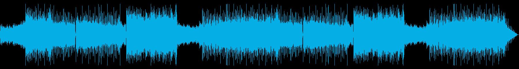 いかつい重めロックなエレキギターサウンドの再生済みの波形