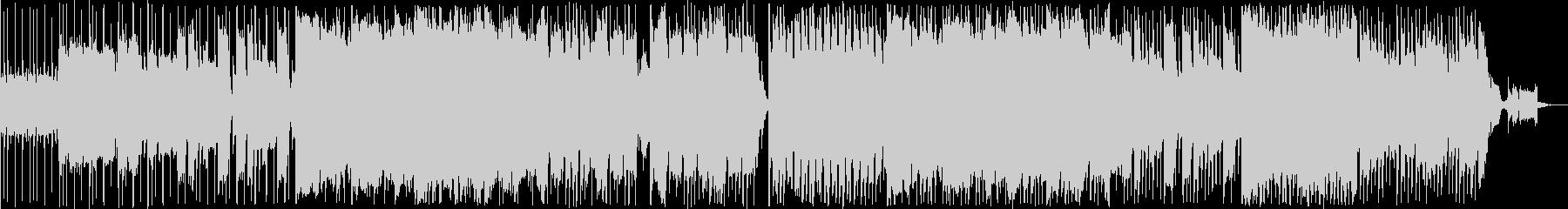 レッチリ風のロックなエレキギター楽曲の未再生の波形