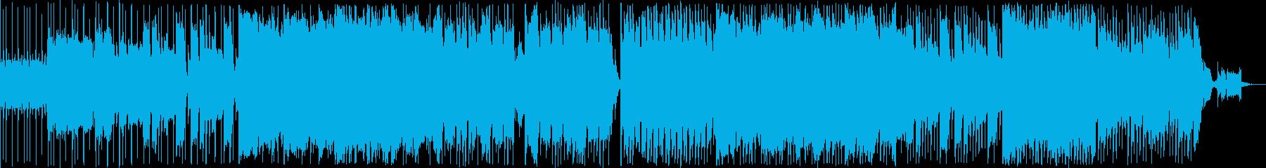 レッチリ風のロックなエレキギター楽曲の再生済みの波形