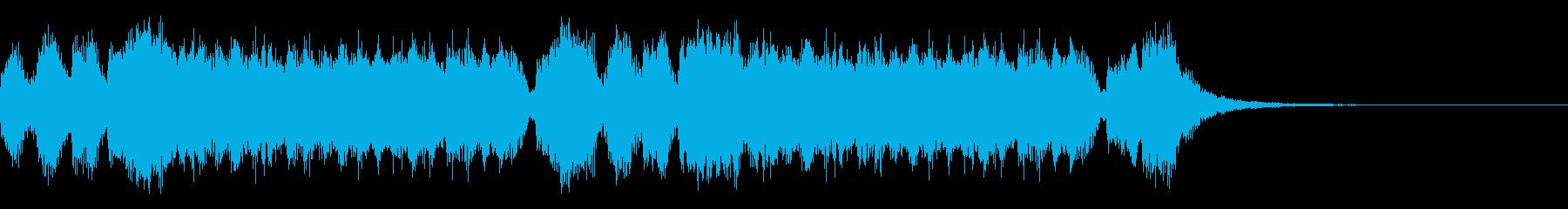 中世風おしゃれなジングルの再生済みの波形