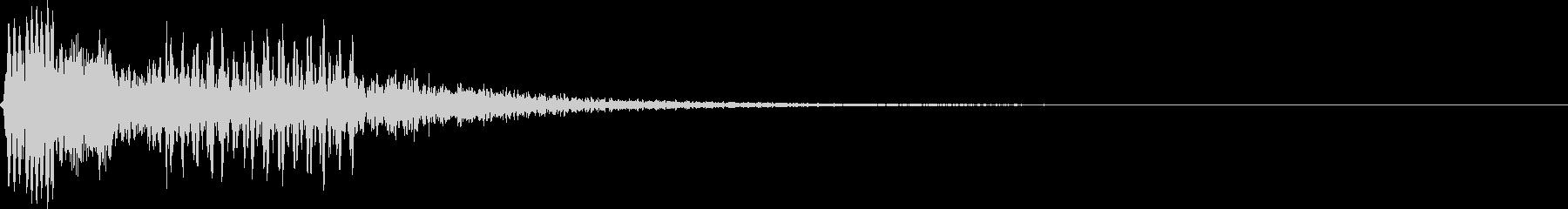 ボタンを押してビープ音を確認の未再生の波形