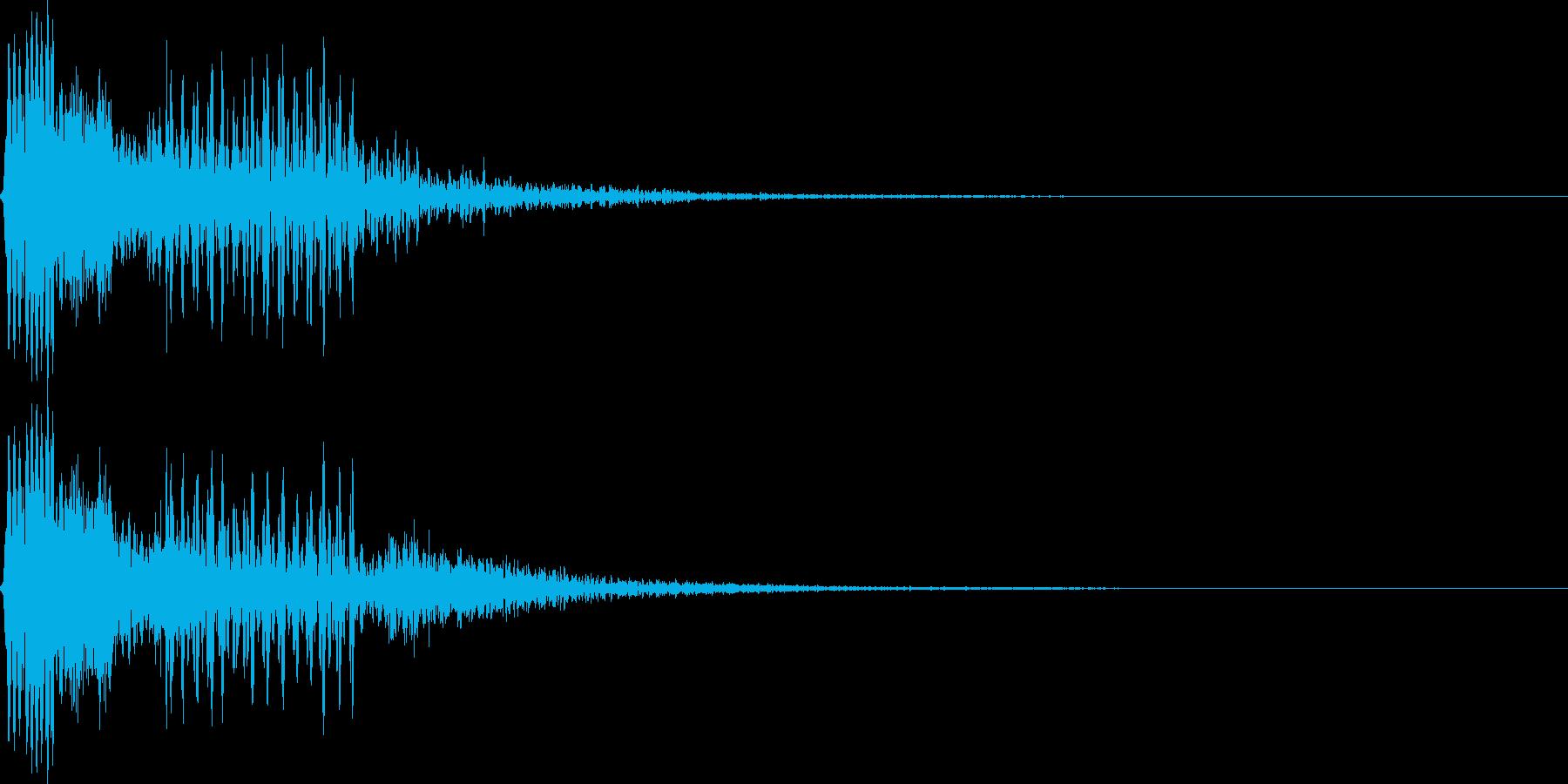 ボタンを押してビープ音を確認の再生済みの波形