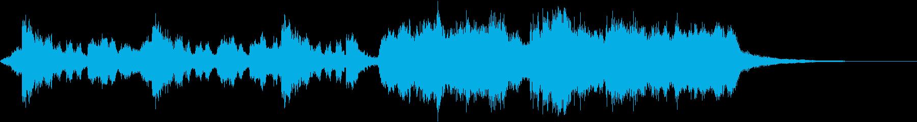 始まりを飾るオーケストラファンファーレの再生済みの波形