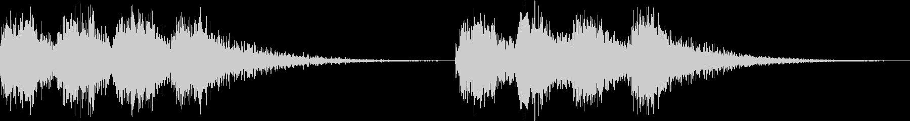アラーム 時報 時計 着信 ビビ ループの未再生の波形
