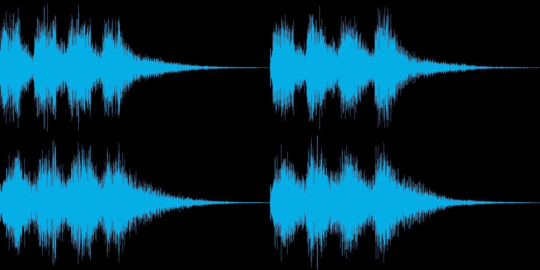 アラーム 時報 時計 着信 ビビ ループの再生済みの波形