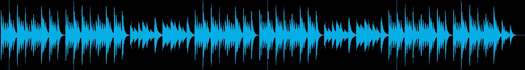 赤ちゃんのお昼寝用ヒーリングミュージックの再生済みの波形