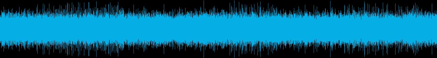 ザァー(FMラジオのノイズC)ループ処理の再生済みの波形