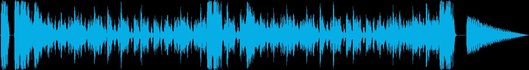 ドラムンベースです。緊迫、衝撃のシーンの再生済みの波形