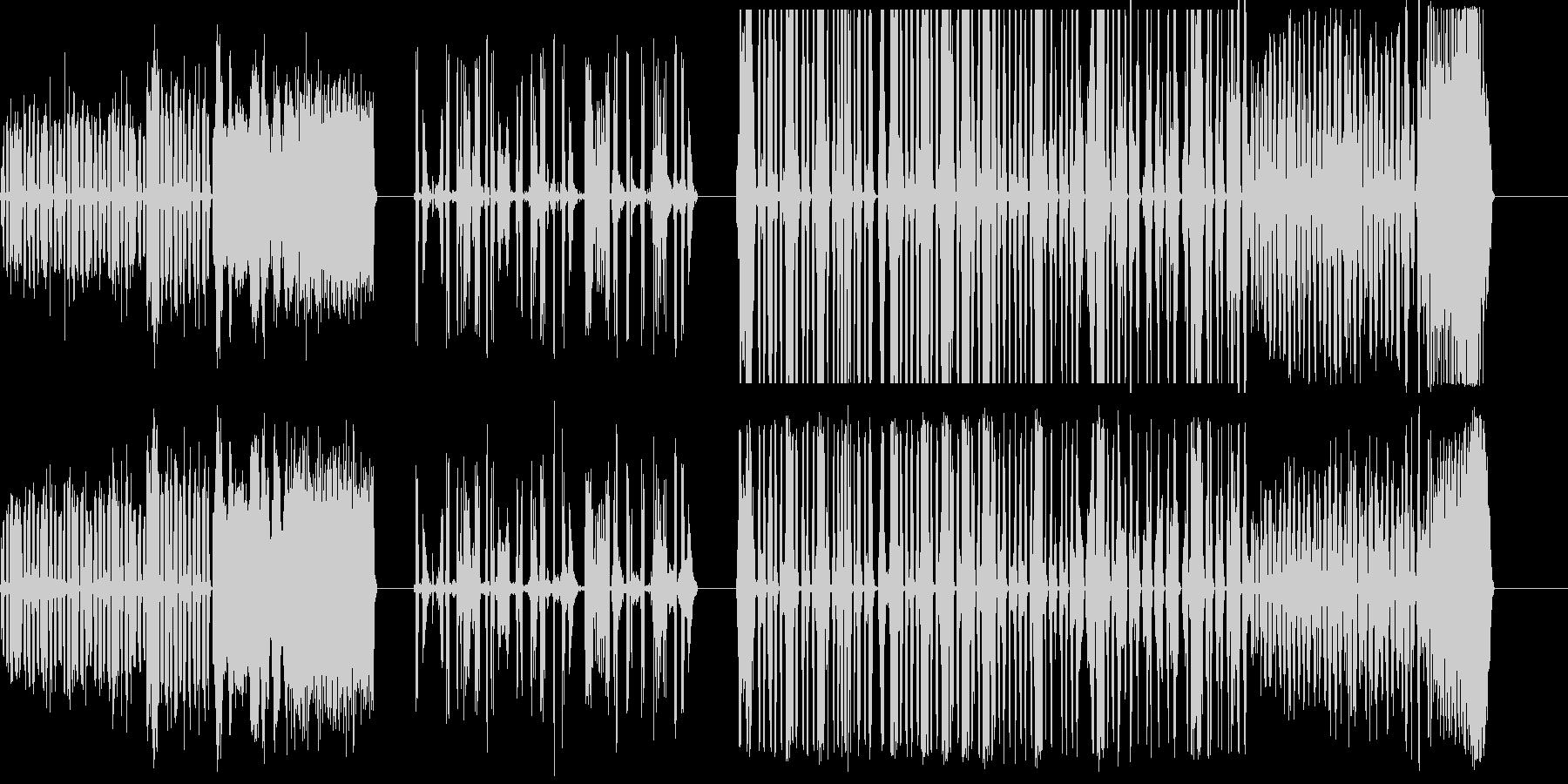 DJスクラッチパフォーマンス7-9の未再生の波形