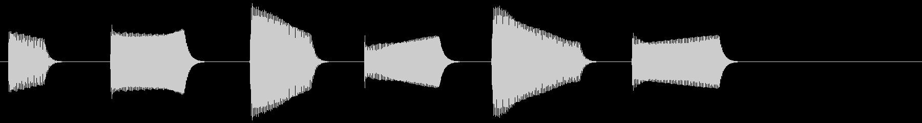 ピピピピピピ(目覚まし時計のアラーム音)の未再生の波形