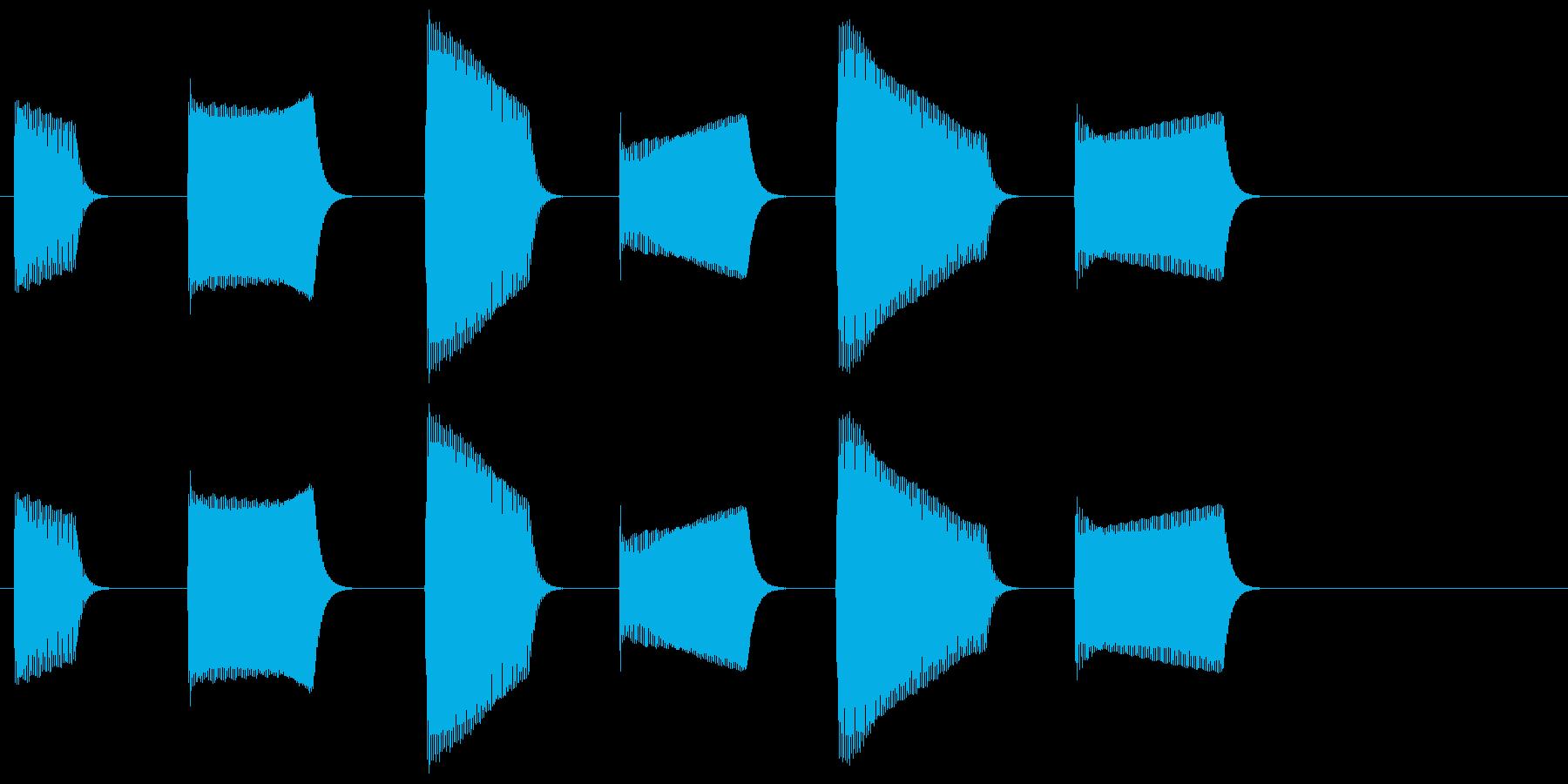 ピピピピピピ(目覚まし時計のアラーム音)の再生済みの波形