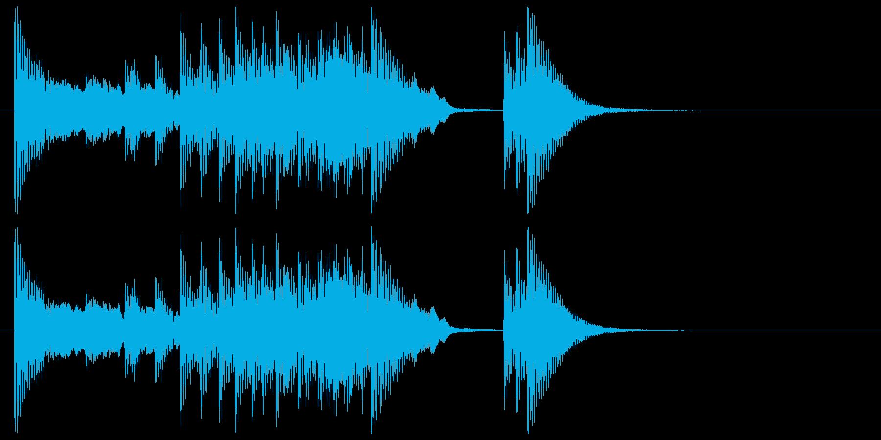 和楽器☆和風ジングル1の再生済みの波形