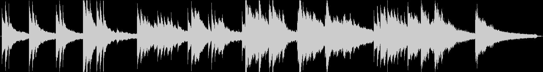切ないピアノソロ1分。シーン切り替え等にの未再生の波形