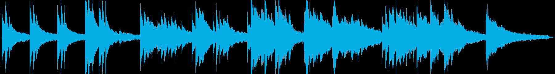 切ないピアノソロ1分。シーン切り替え等にの再生済みの波形